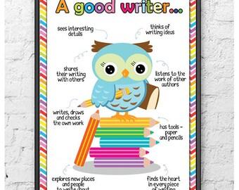 A Good Writer Poster (Printable/Digital Download)