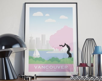 Vancouver, British Columbia City Illustration
