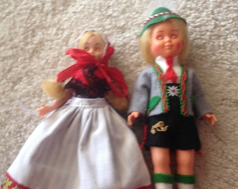 From my moms collection pair of Scandinavian boy and girl dolls