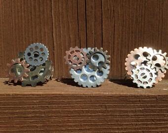 Steampunk Gear Filigree Adjustable Ring