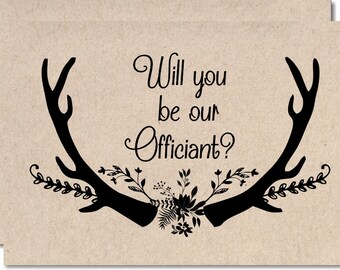 Will You Be Our Officiant Gift Note Wedding Card To Ask