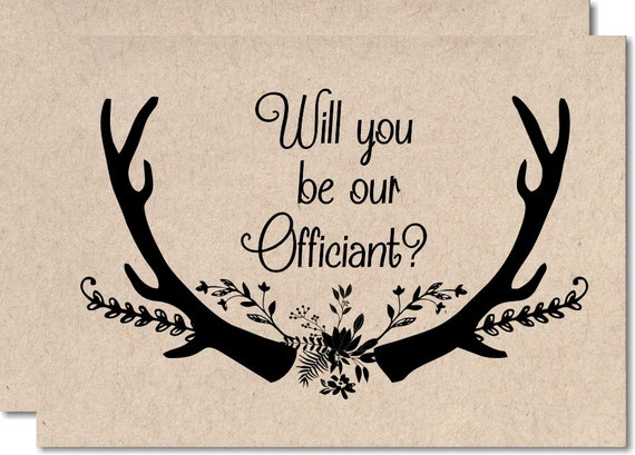 Wedding Officiant Gift Ideas: Will You Be Our Officiant Gift Note Wedding Officiant Card To