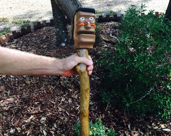 FSU Walking Cane, Walking Stick, Cane, Football Apparel, Hand Carved Walking Stick, Gifts for Football Fans, Grandparents