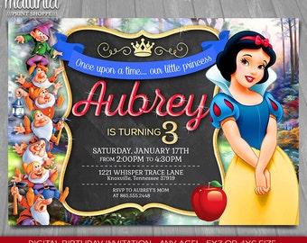 Snow White Invites Etsy