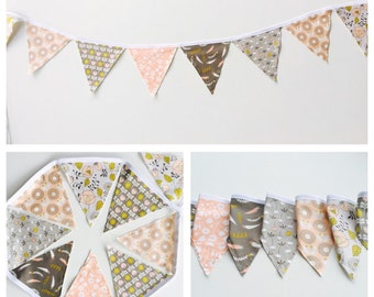 Fabric banner, flowered banner, party banner