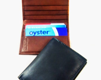 ITALIAN Style Bifold leather wallet slim-design