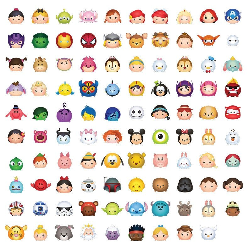 It is a picture of Gargantuan Tsum Tsum Characters Names