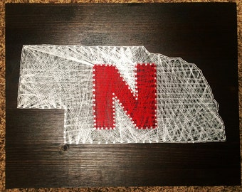 MADE TO ORDER: Nebraska String Art - 11x14""