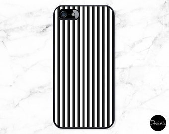 Black and White Striped iPhone & Samsung Case