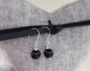 Black Onyx Earrings, drop earrings, onyx earrings, dangle earrings, gifts for her