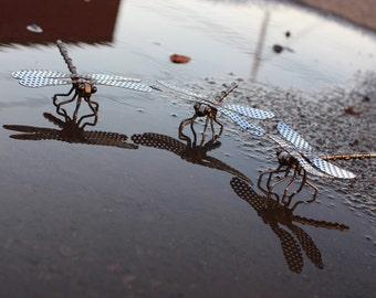 Metal Sculpture, Welded Sculpture, Metal Dragonfly, Dragonfly Sculpture, Handmade Dragonfly, Metal Art, Welded Dragonfly, insect sculpture