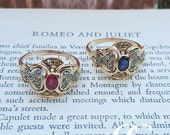 Art Deco Inspired 9ct Rose Gold Dress Ring with Diamond Shoulders and a Sapphire or Ruby