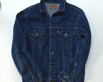 Vintage Levi's Jean Jacket 80's Dark Wash