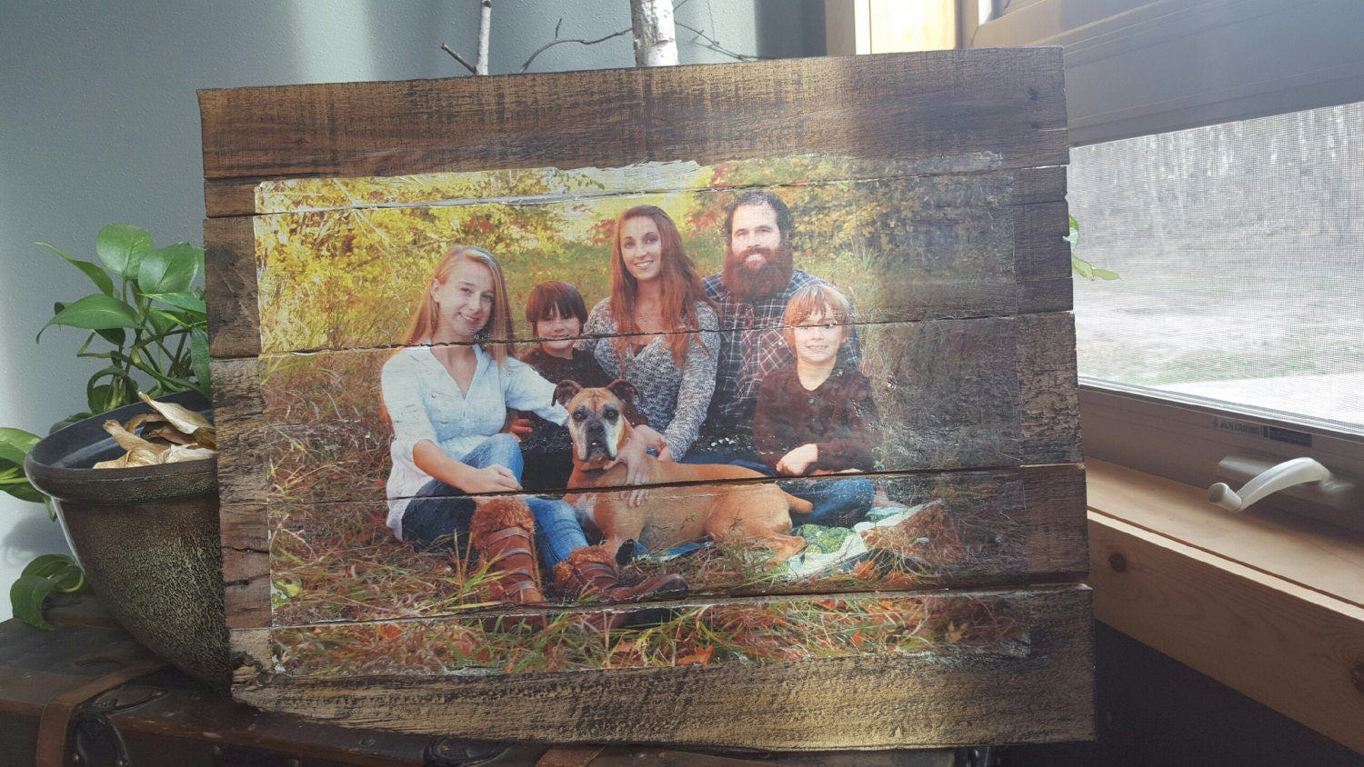 Photo transfer to pallet wood 14 in x 18 in from solollc for How to transfer design to wood