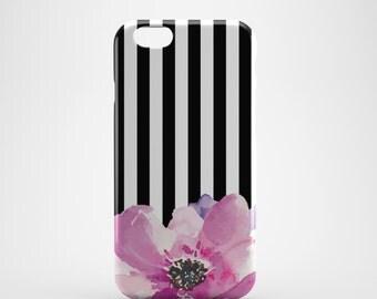 Stripe floral iPhone 6s case, iPhone 6 case, iPhone 5 case, iPhone 5s case, iPhone 5c Case, iPhone 6 plus case, iPhone 6s plus, iPhone SE