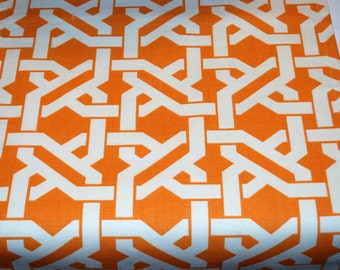 Contemporary Table Runner Orange and White