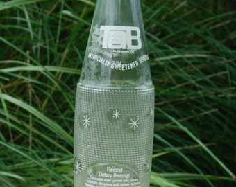Vintage 1960's Bottle of Tab Soda Bottle 10 oz Bottle Antique Glass Bottle