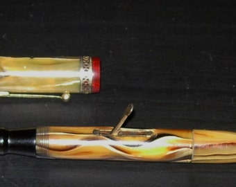 Fountain Pen Vintage New Banker Combo Fountain Pen and Pencil Slide Filler 1930's