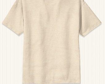 Plain T-shirt 100% Organic Cotton and Non-Toxic