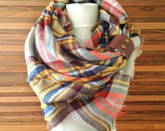 Scarf Blanket Plaid Scarf Oversized Scarf Blanket Tartan Scarf Women Accessory Winter Scarf Birthday Gifts For Her