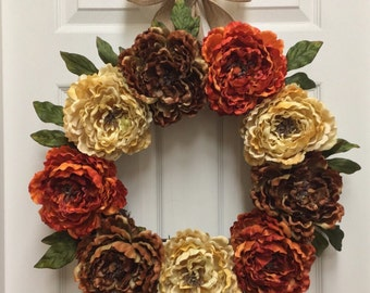 Front Door Wreath, Rustic Wreath, Grapevine Wreath