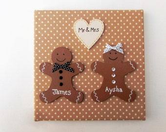 Personalised Gingerbread Family Pictures