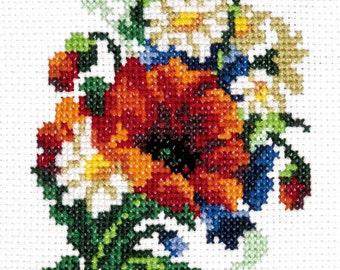 Cross Stitch Kit Bouquet