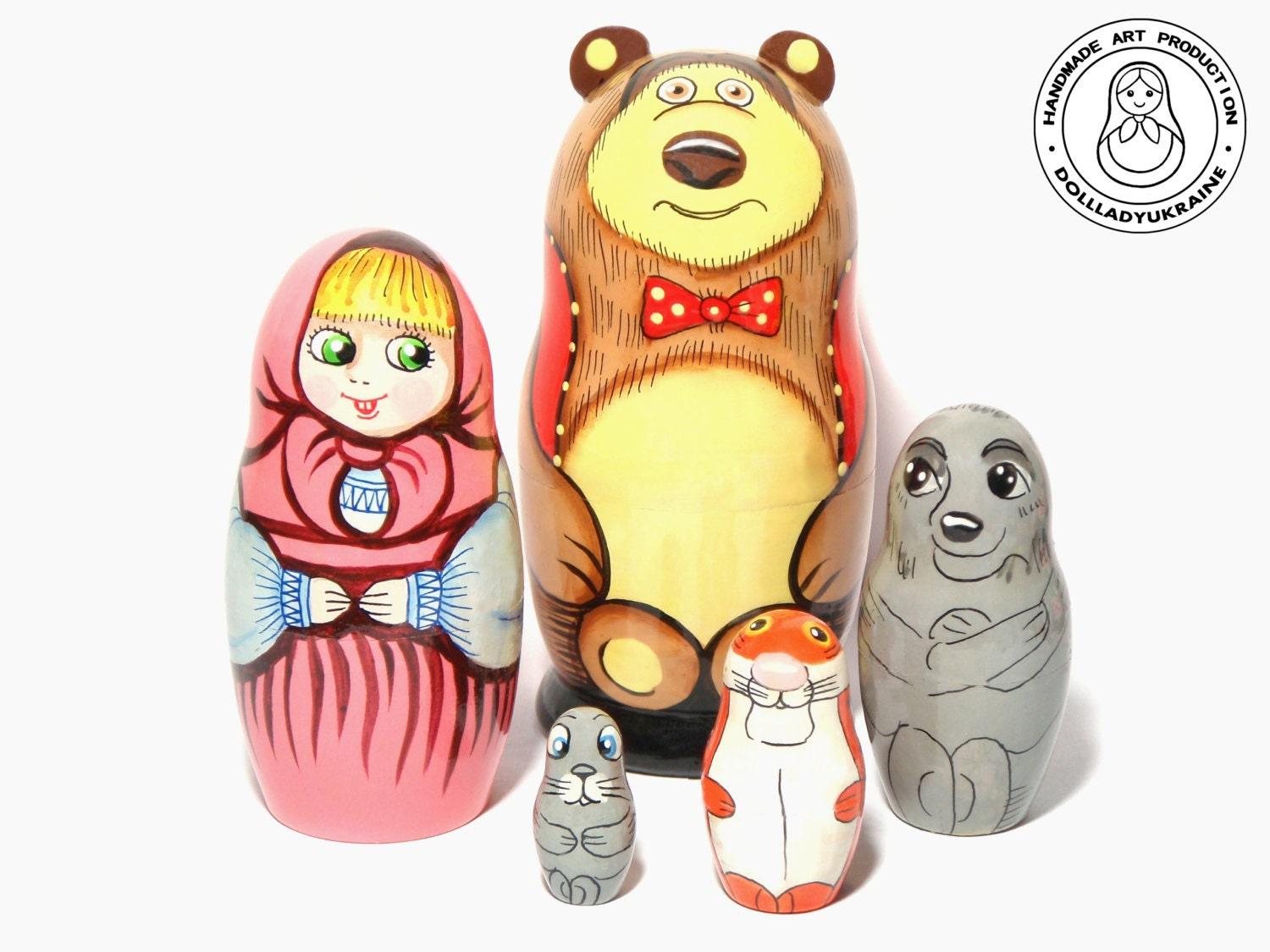 nesting dolls masha and bear 11 cm russian fairy tale
