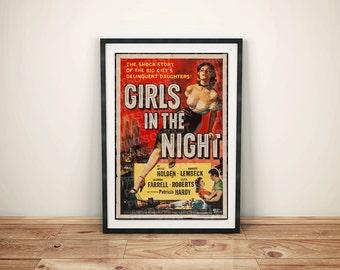 Girls in the Night Drama Vintage Retro Movie Poster