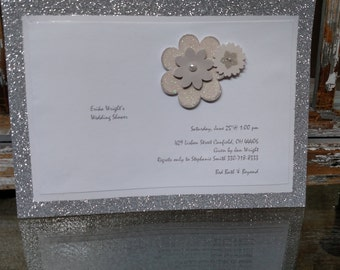 silver wedding shower invitations