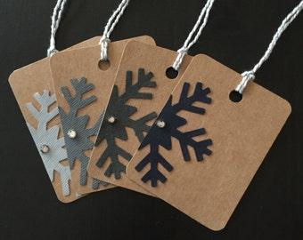 Snowflake Gift Tags - Set of 20