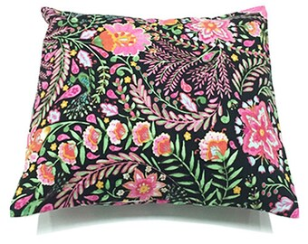 Floral Accent Throw Pillow