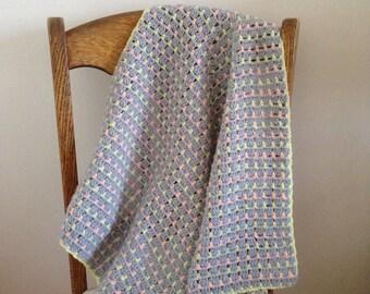 PDF Pattern - 'April' Baby Blanket (Beginner - Intermediate)