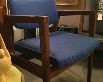 SOLD: Gunlocke Mid Century Walnut Chair