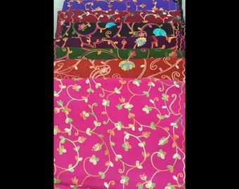 Cashmere embroidered scarf
