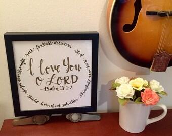 SALE! Scripture decor; 8x10; Bible Verse art; Christian gift; Psalm 18:1-2; Graduation gift; Christian decor