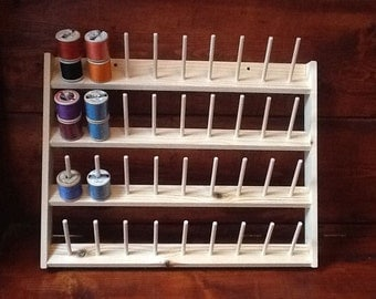 Cotton reel holder Wall-Mounted holds 36 reels 3x7 cm (free post uk)