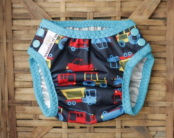Swim Nappy - swimmers - reusable - mcn - pul - baby - baby shower - baby gift - swimwear -  trucks - handmade - swim diaper