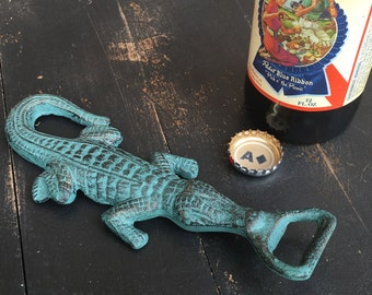 Cast Iron Alligator Bottle Opener