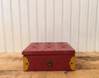 Vintage Home Budget Bank Metal Storage Box