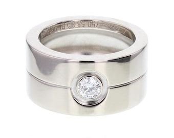 Cartier White Gold Diamond Set Band Ring