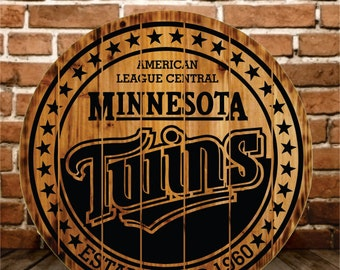 Minnesota Twins Rustic Sign - Buy One - Get One - FREE (Ends Today)