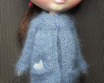 BLYTHE DOLL-- Blue Sweater with Pockets--no Doll