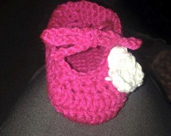Crochet Baby Ballet Booties