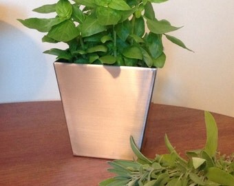 Stainless steel planter 5''
