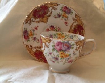 "Vintage China Tuscan ""Provence""  Fine English Bone China Teacup and Saucer"