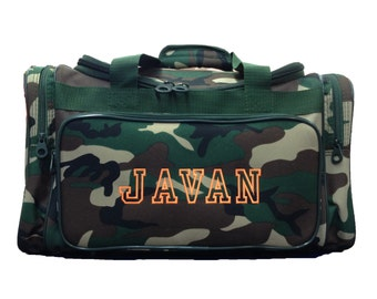 Camo Duffle Bag/ Boy's Overnight Bag/ Travel Bag/ FREE MONOGRAM