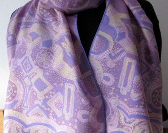 Vintage BELLOTTI foulard silk twill scarf