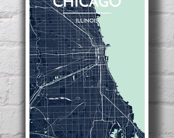 Chicago City Map Print