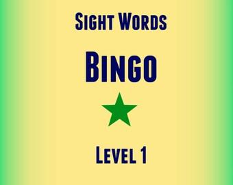 Sight Words Bingo (Pre-primer)!